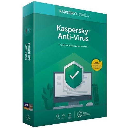 Kaspersky Antivirus 2019 Full Box 3 Utente 1 anno