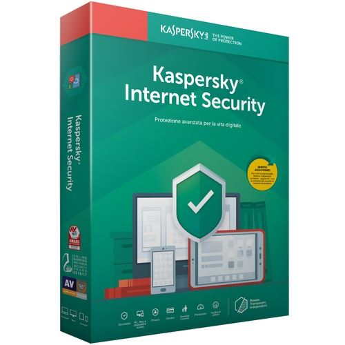 Kaspersky Internet Security 2019 Full Box 1 Utente 1 anno ITA