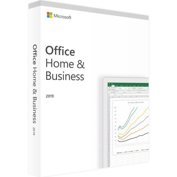 Microsoft Office Home and Business 2019 MAC + Windows 10 Italiano Eurozone Medialess