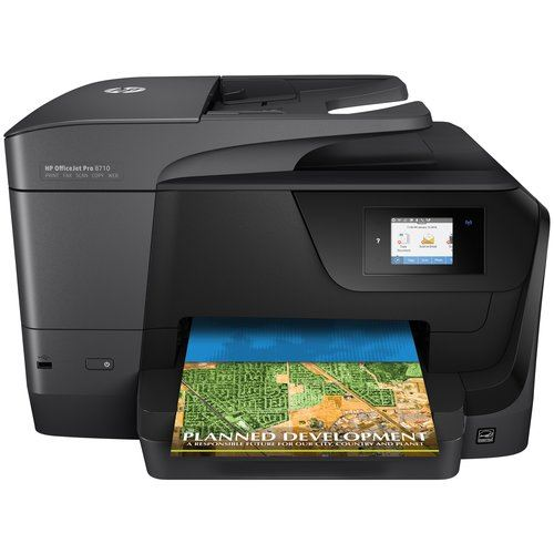 Multifunzione HP Office Jet-8710 pro D9L18A A4 22/18PPM 250FF ADF FAX